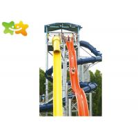 China Fun Tall Cool Water Slides For Kids Irritative Water Games Combination wholesale