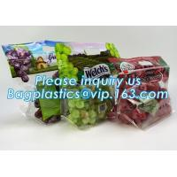 China packing bag ziploc slider storage bags with white block, Perforated Standup Bags for Fresh Fruit with Cheap Price, zippe wholesale