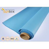 China 0.8 Mm Or OEM Blue Fire / Heat Resistant Fiberglass Cloth To Europe 1000 G/Sqm wholesale