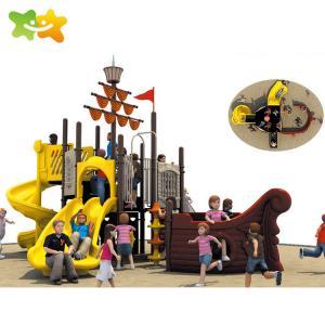 China Kids Plastic Playground Slide Pirate Ship Adventure Playground Equipment wholesale