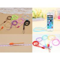 China Multi-Function  6mm Silicone Soft PVC Double Color Mobile Phone Lanyard, PVC Cellphone Lanyard wholesale