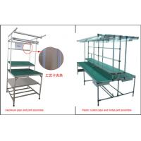 Quality Lean Pipe Rack Workstation Industrial Workbench Aluminum Plastic Coated Metal Joint wholesale
