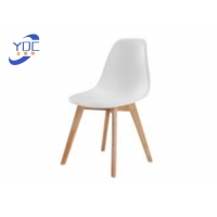 China Commercial Hotel Colorful Comfortable Wooden Leg Chairs For Outdoor Dining Table wholesale