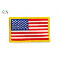 China Iron On Backing Embroidered American Flag Patch US Military Style With Merrow Border wholesale