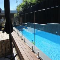 China Glass Pool Fence with Certificates / Baby Pool Fence Glass Railing Outdoor Frameless Railing wholesale