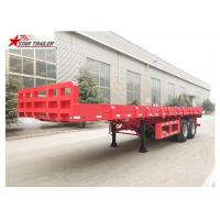 China 9.5 Meters 2 Axles Long Flatbed Trailer , Semi Truck Lightweight Flatbed Trailer wholesale