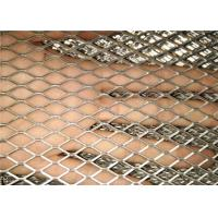China Plain Expanded Metal Sheet , Diamond Steel Mesh Sheet Customized Size on sale