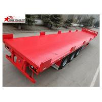 China Heavy Duty Long Flatbed Semi Trailer 12R22.5 Radial Tyres For Cargo wholesale