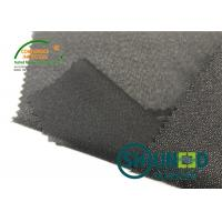 Buy cheap Lightweight Twill Woven Lining Water Jet Polyester Interfacing Black Color from wholesalers