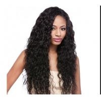 China Water Wave / Kinky Curly Human Hair Wigs 100% Brazilian Wig , Hair Extension Double Wefted wholesale