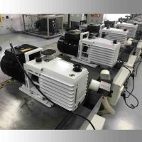 China DRV16 0.55KW Lubricated Rotary Vane Vacuum Pump Dual Stage White Color wholesale