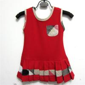 China New arrival hot sale spring 2014 B-urberry designer kid sleeveless short cotton dresses wholesale