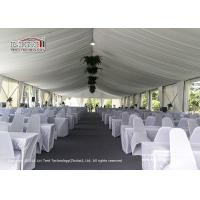 China Aluminum frame wedding tent, big clear span aluminum and PVC event marquee tent, Aluminum frame tent with large span wholesale