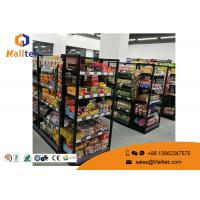 China Grocery Customized Shop Display Fittings Rust Resistance Black Gondola Shelving wholesale
