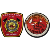China 4x4 Inch Fire Department Patches wholesale