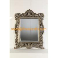 China Antique style with handmade gold leaf finish wood frame wall mirror wholesale