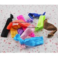 China Wholesale Unisex Knotted Velvet Elastic Glitter Hair Band wholesale
