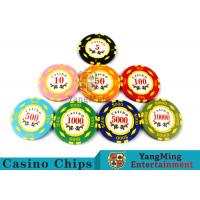 Quality Texas Hold'em / Metal Poker Chips For Casino Gaming With Numbers Casino Chips for sale
