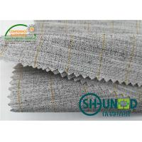 China Heavyweight Garment Stretched Cotton Canvas Fabric / Horsehair Interlining For Suit wholesale