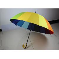China 190T High Density Compact Rainbow Umbrella Water Resistant With Size 21 Inch * 16 K wholesale