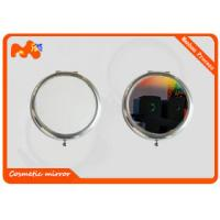 China Silver Ladies Sublimation Compact Mirror With Pre Painted Pictures on sale