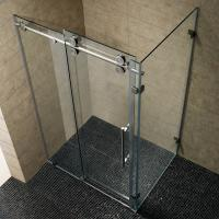 China Simple Painting Tempered Glass Sliding Bathroom Shower Enclosure wholesale