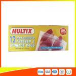 China Supermarket Plastic Freezer Zip Lock Bags / Zip Seal Food Freezer Bags wholesale