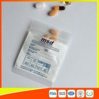 China Clear Small Ziplock Bags For Pills , Disposable Air Tight Zip Lock Bags wholesale