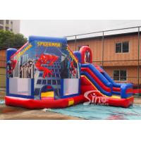 China 6x5m kids spiderman inflatable jumping castle with slide for sale price from Sino Inflatables wholesale