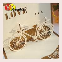 China Special bicycle design Pop Up Happy Birthday Cards  for sunshine kids wholesale