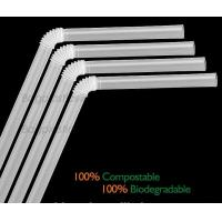 China Disposable Paper Straws Pure white Drinking Straws party straw, PLA plastic drinking straw wholesale