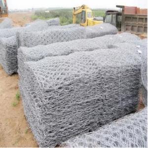 China Hexagonal Hole Hot Dipped Galvanized Gabion Stone Cage wholesale