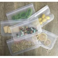 Buy cheap Lead Free Reusable Ziplock Bags For Snacks Fruit Storage / Leak Proof Lunch Bag from wholesalers