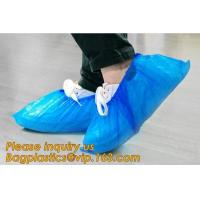 China THICK DISPOSABLE,DUST-PROOF,CPE COATED,SMS BOOT COVER,NON WOVEN SHOE COVER,heavy duty polypropylene fabric shoes cover wholesale