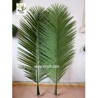 China UVG foxtail artificial coconut tree leaves wholesale in china for roof decoration PTR044 wholesale
