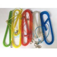 China Steel Wire Core Spiral Fishing Pole Leash , Strong Spiral Spring Coil Lanyard wholesale
