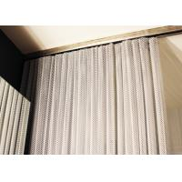 China Iso Aluminum Metal Coil Drapery , Coil Mesh Drapery For Space Partition wholesale