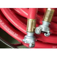 Buy cheap Flex ID 3/4 Inch Rubber Air Hose Assembly With Chicago Fittings , 300 Psi Work Pressure from wholesalers
