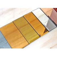 China 5mm Decorative Tinted Beveled Glass Mirror , Large Wall Mirror Glass on sale