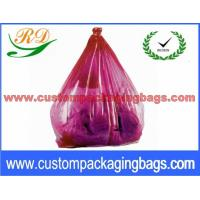 China Colorful Collapsible Plastic Laundry Bags , Water Soluble Hotel Laundry Bags wholesale