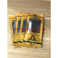 China European And American Cigar Moisturizing Plastic Zipper Bags With Humidified System wholesale