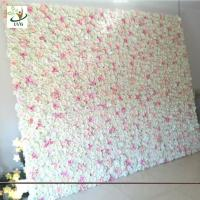 China UVG wedding planner party flower arrangements in silk rose flower wall for backdrop decoration CHR1138 wholesale
