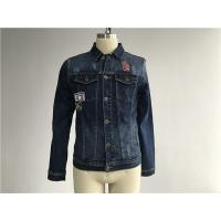 China Button Through Stretch Denim Jacket Mens Trucker Jacket Size Customized TW76376 wholesale