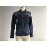 China Button Through Stretch Denim Jacket Mens Trucker JacketSize Customized TW76376 wholesale