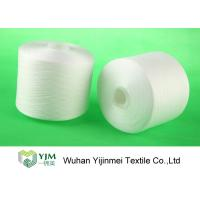 China Z Twist White Dyed Virgin Spun Polyester Yarn For Sewing / Knitting / Weaving wholesale