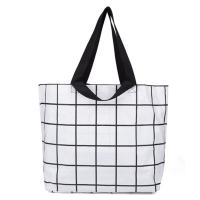 China Handled Plain Organic Cotton Tote Bags , Custom Natural Cotton Shopping Bag wholesale