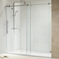 China 304 Stainless Steel Sliding Glass Free Standing Shower Enclosure wholesale
