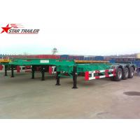 China 40 Feet Gooseneck Extendable Chassis With Three Axles For Semi Trailer wholesale