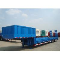China 3/4 Axles Heavy Duty Low Bed Semi Trailer Steel Material High Load Capacity wholesale