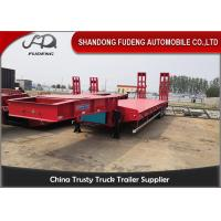China 4 Axles 80 Tons Low Bed Semi Trailer With Mechnical Ladder For Sale on sale